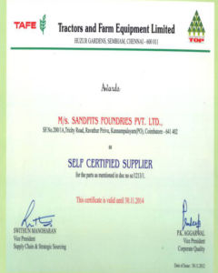 TAFE – Self-Certified Supplier Certificate