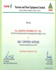 TAFE – Self-Certified Supplier Certificate